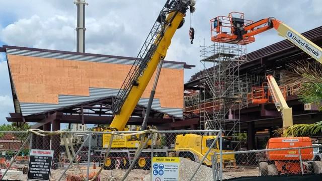 Resort Monorail Station under contruction