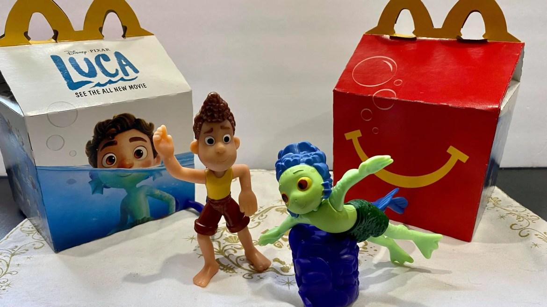New Pixar Luca Happy Meal Toys At McDonald's!