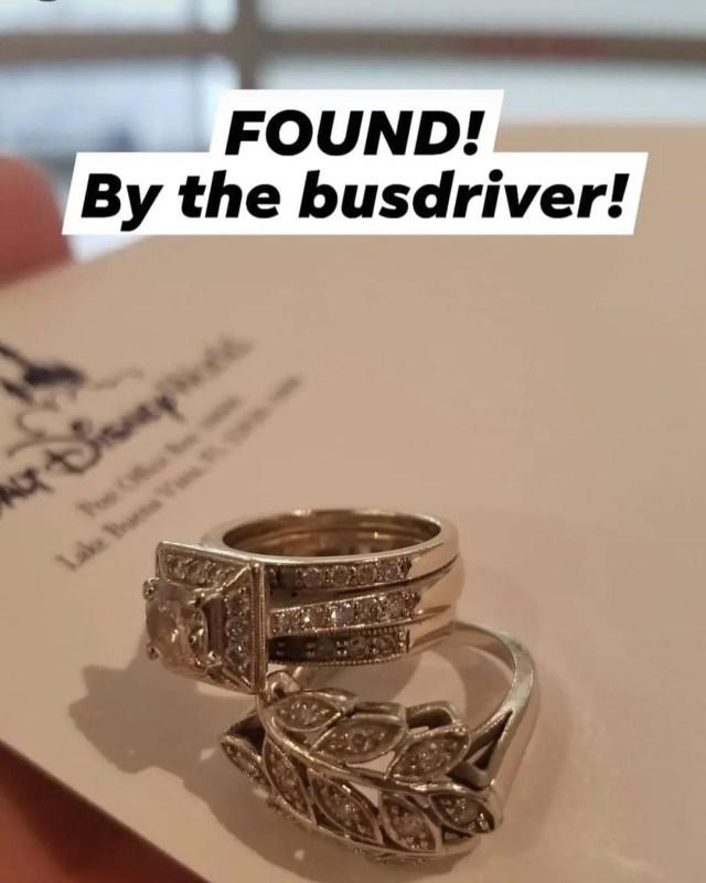 Disney bus driver returns lost wedding rings 1