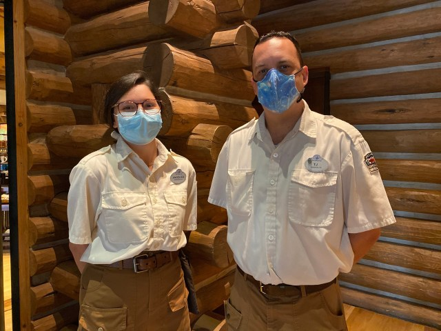 Disney Cast Members Celebrate the reopening of the Wilderness Lodge! 2