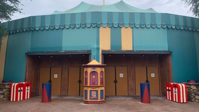 Sign Removed From Big Top Souvenirs