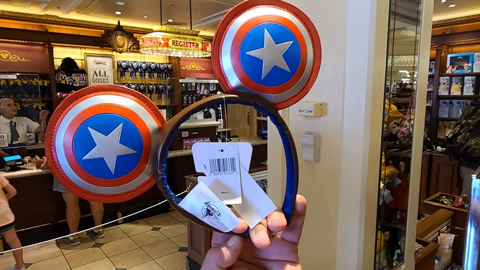 Captain America Mickey Ears Have Heroic Style
