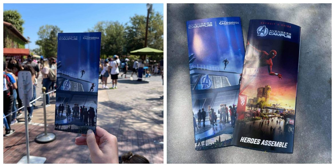 Avengers Campus featured on new Collectable California Adventure Park Map