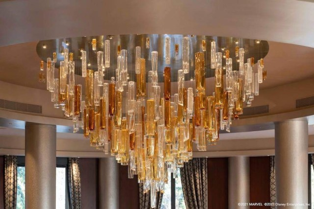 First look at the Iconic Chandelier at Disney's Hotel New York 2