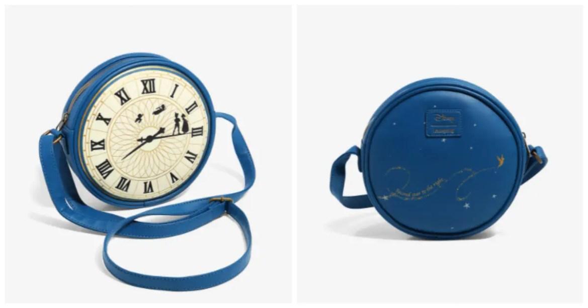 New Loungefly Peter Pan Clock Crossbody