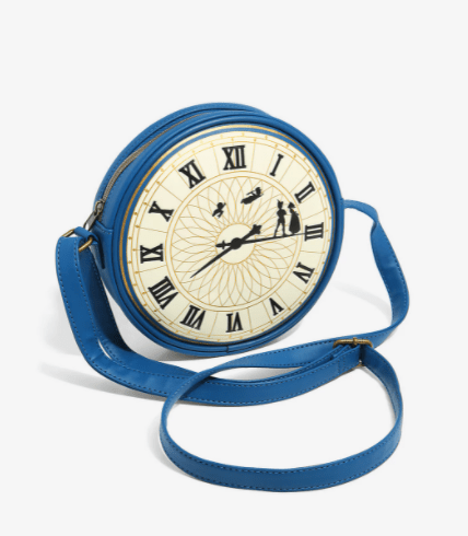 New Loungefly Peter Pan Clock Crossbody 1