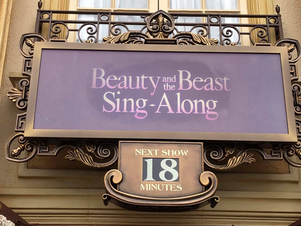 Beauty and the Beast Sing-Along in EPCOT Seating Every Row 3