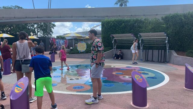 Outdoor Splash Pads Return to Operation in Epcot 1