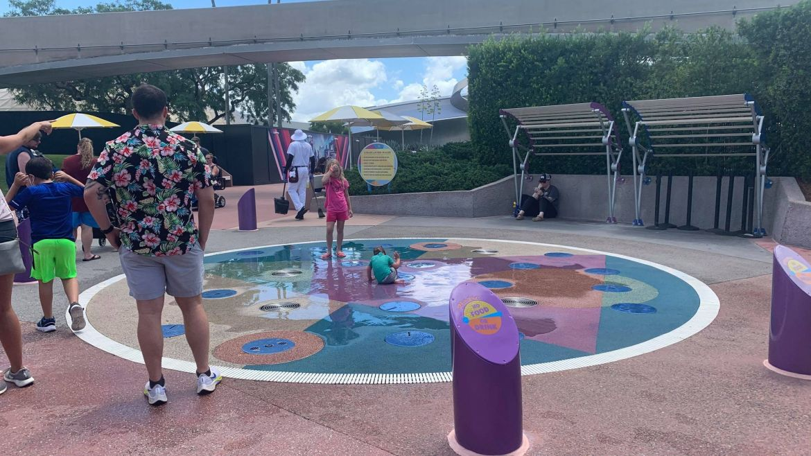 Outdoor Splash Pads Return to Operation in Epcot