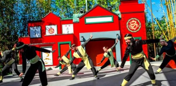 Learning Ninja moves at LEGOLAND NINJAGO Days