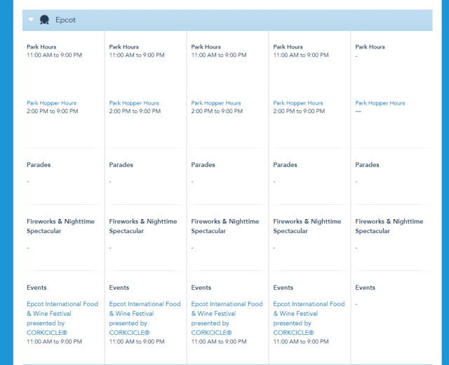 Disney World Park Hours have been released through Sept 4th 3