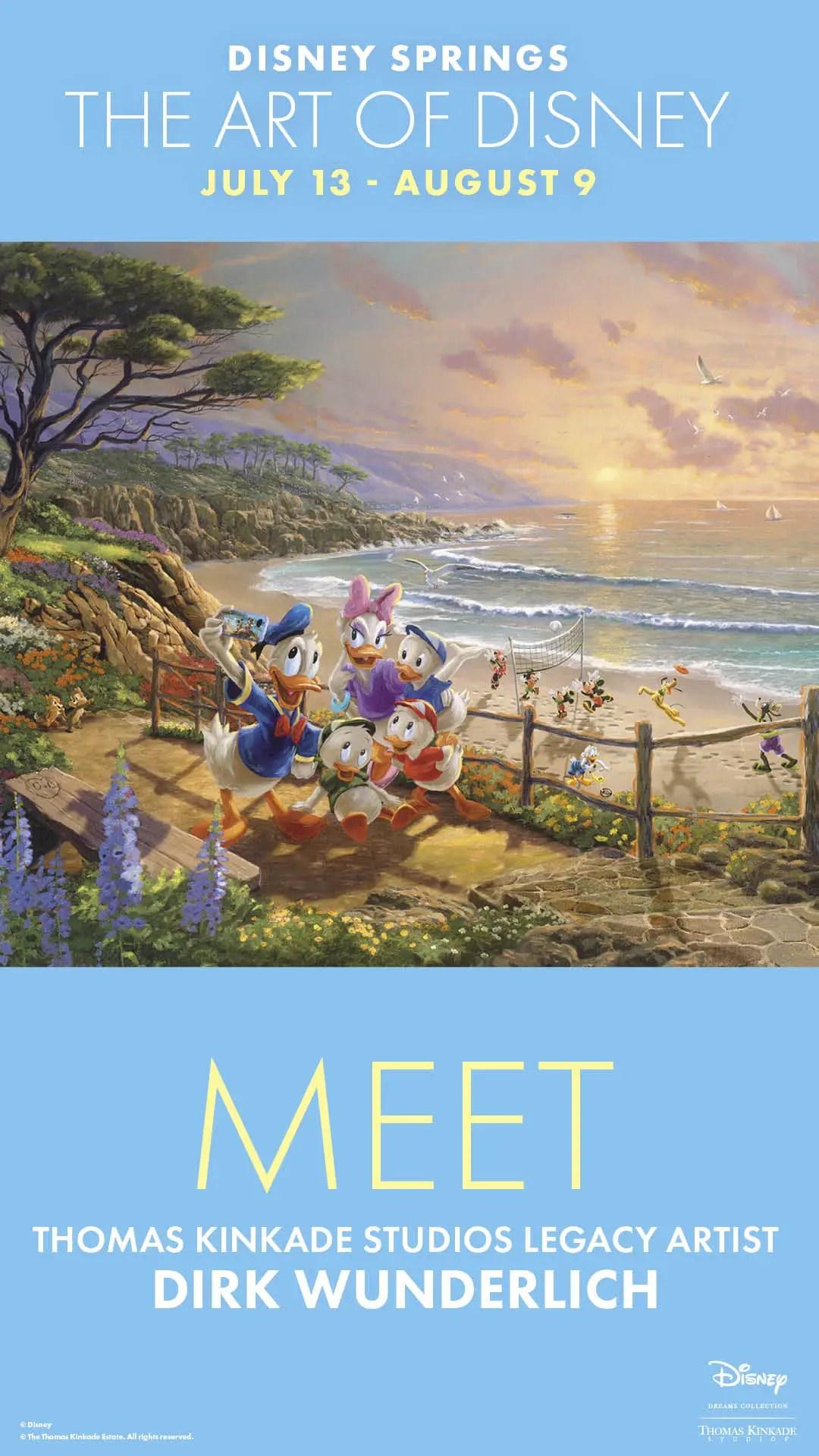 Thomas Kinkade Studios Legacy Artist Dirk Wunderlich will be making appearances at The Art of Disney in Disney Springs. 1