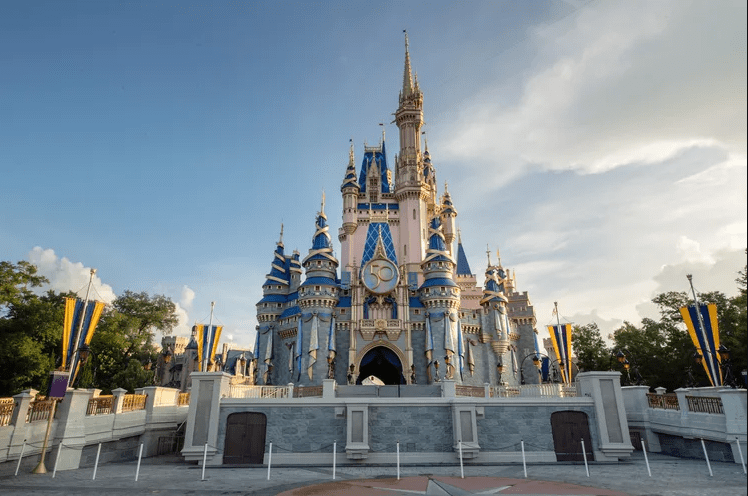Cinderella Castle Golden 50th Crest now installed in the Magic Kingdom 5