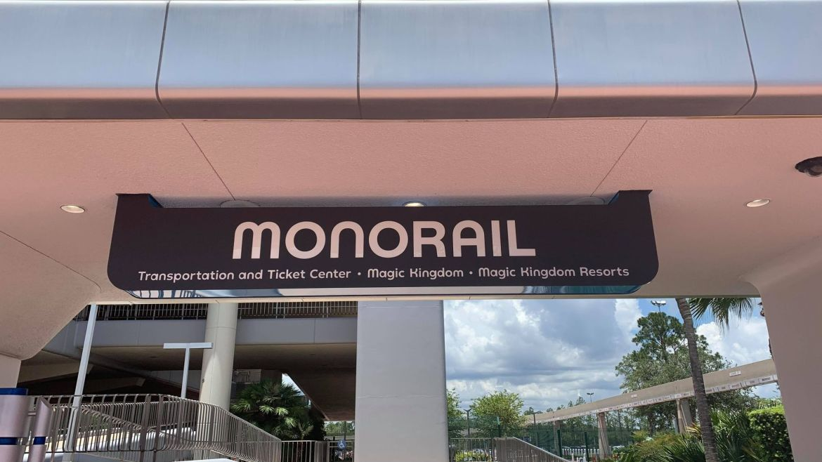New Monorail Sign now up in Epcot ahead of reopening