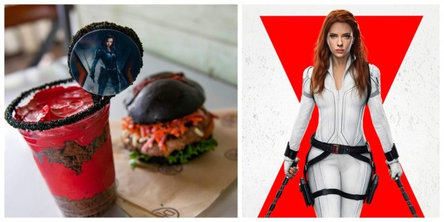 D-Luxe Burger is celebrating Black Widow with limted edition burger and dessert 1