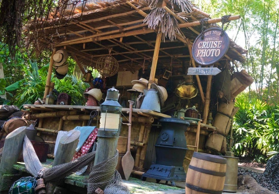 Take a look at Traders Sam's Gift Shop on the Jungle Cruise