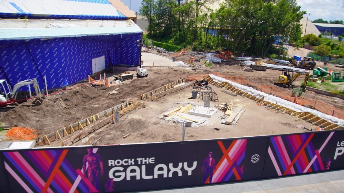 Guardians of the Galaxy Cosmic Rewind Construction from the Epcot Monorail