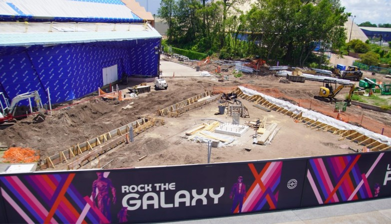 Guardians of the Galaxy Cosmic Rewind Construction from the Epcot Monorail 2