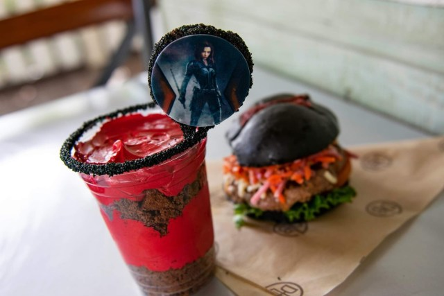 D-Luxe Burger is celebrating Black Widow with limted edition burger and dessert 2