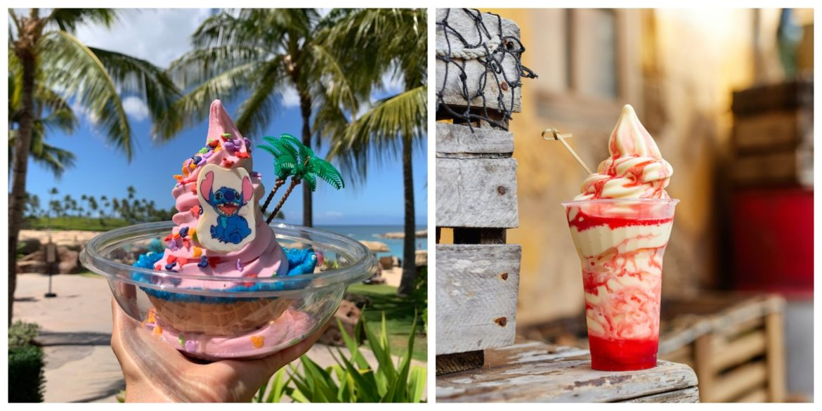 The many different flavors of Dole Whips available at the Disney Parks & Resorts