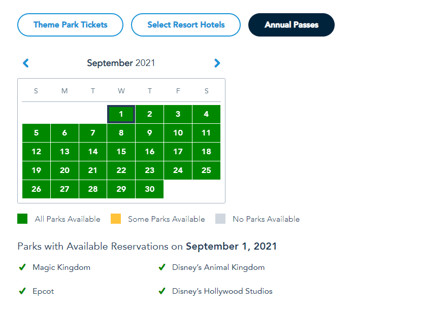 More Disney World Theme Park Reservations added for Summer 8