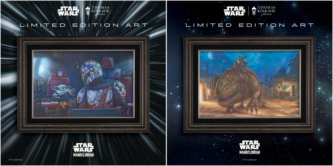 Thomas Kinkade Studios unveils two Limited Edition pieces from The Mandalorian™ Collection at Disney Springs
