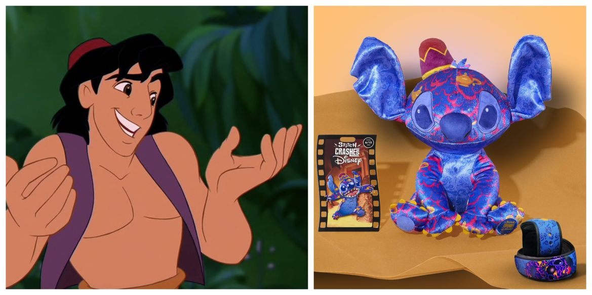 Aladdin Stitch Crashes Disney Collection Coming to World of Disney Today