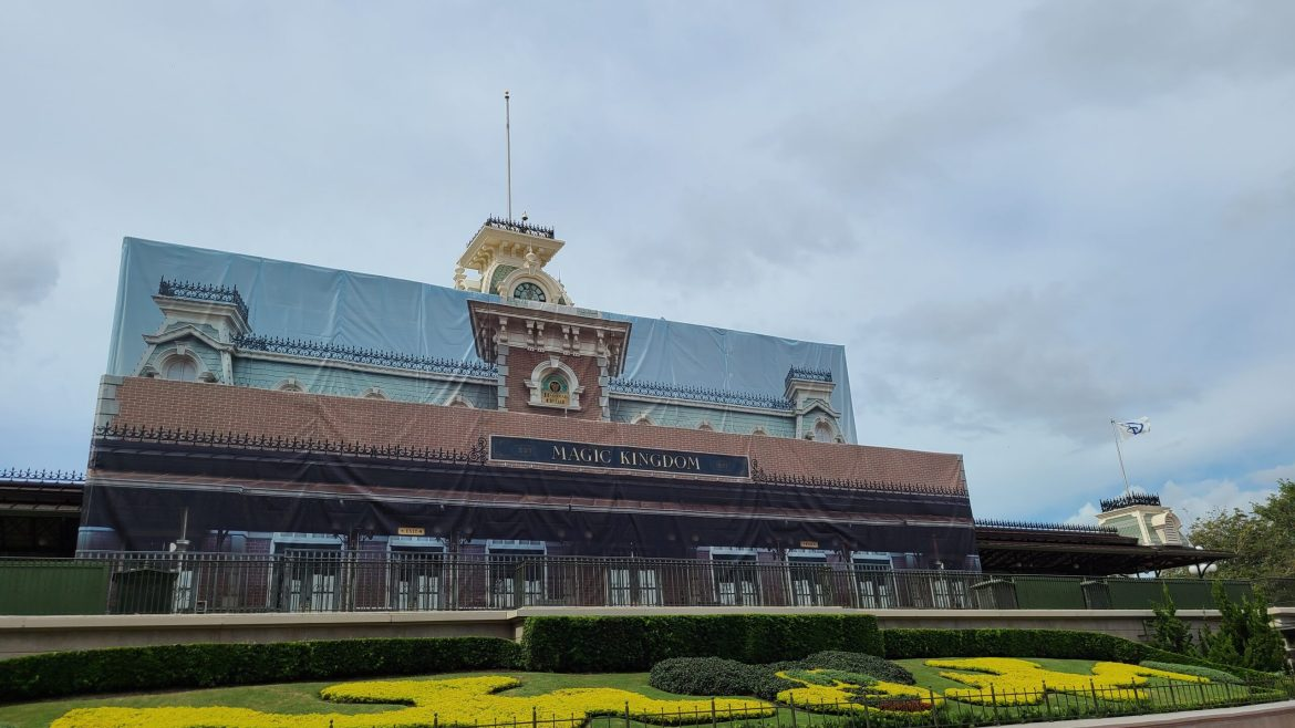 Some scrim has started to come down on Magic Kingdom Train Station