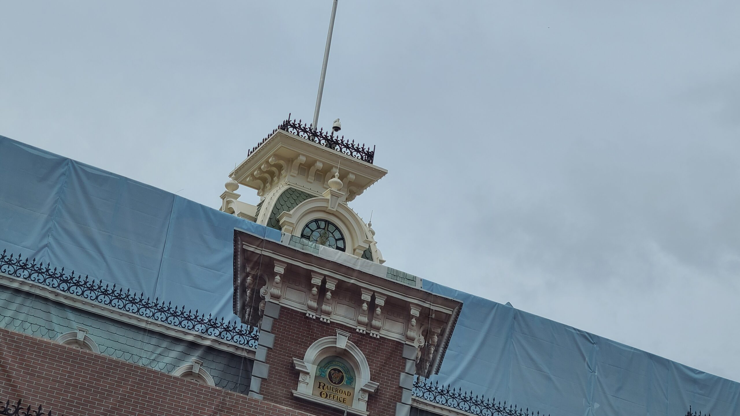 Some scrim has started to come down on Magic Kingdom Train Station 2