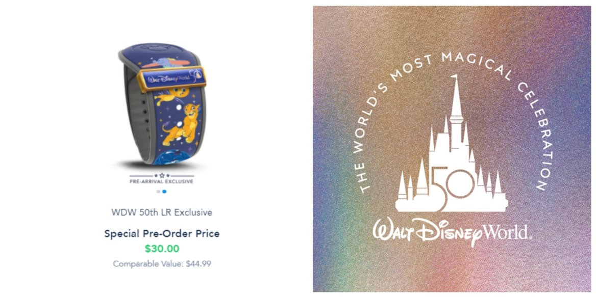 New Walt Disney World 50th Anniversary Magic Band pre-order available now