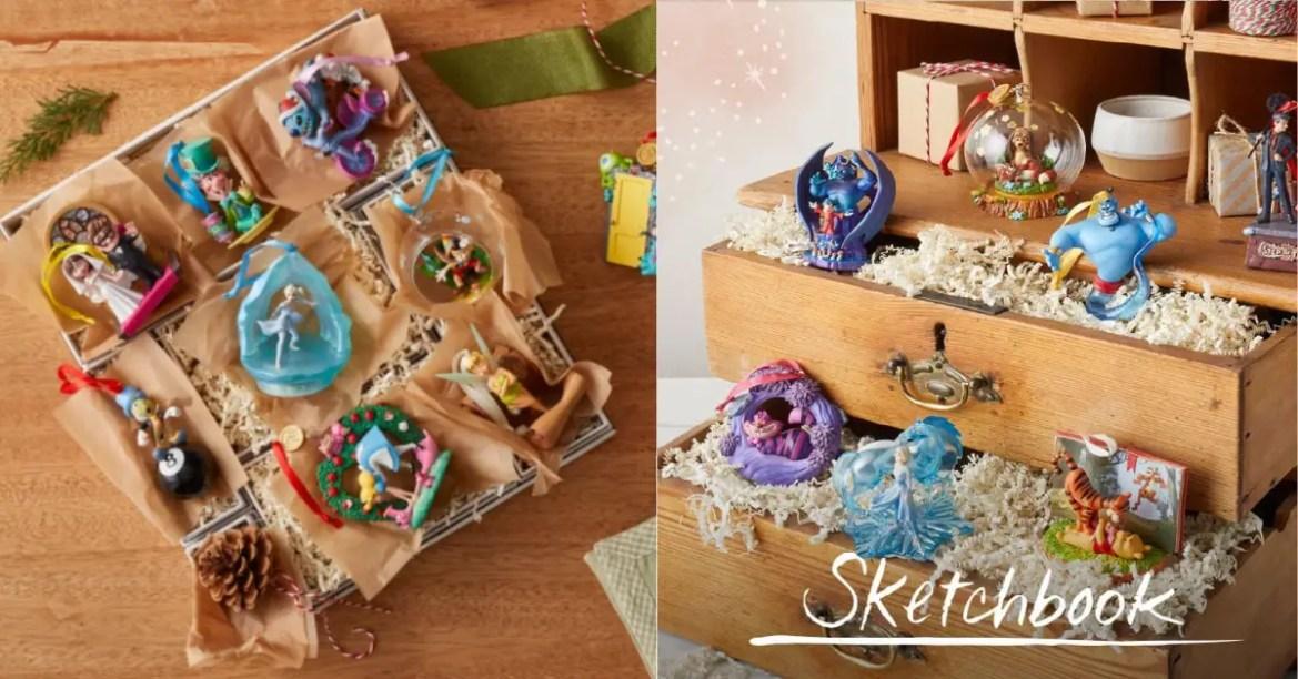 New Disney Sketchbook Ornaments Have Arrived!
