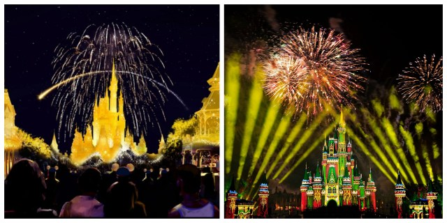 You can see 2 different fireworks in one night at the Magic Kingdom 1