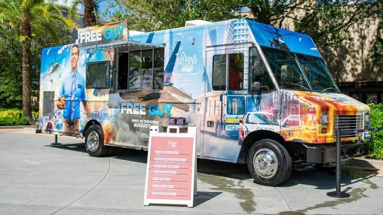 New Free Guy Joffrey's Coffee truck at Disney Springs