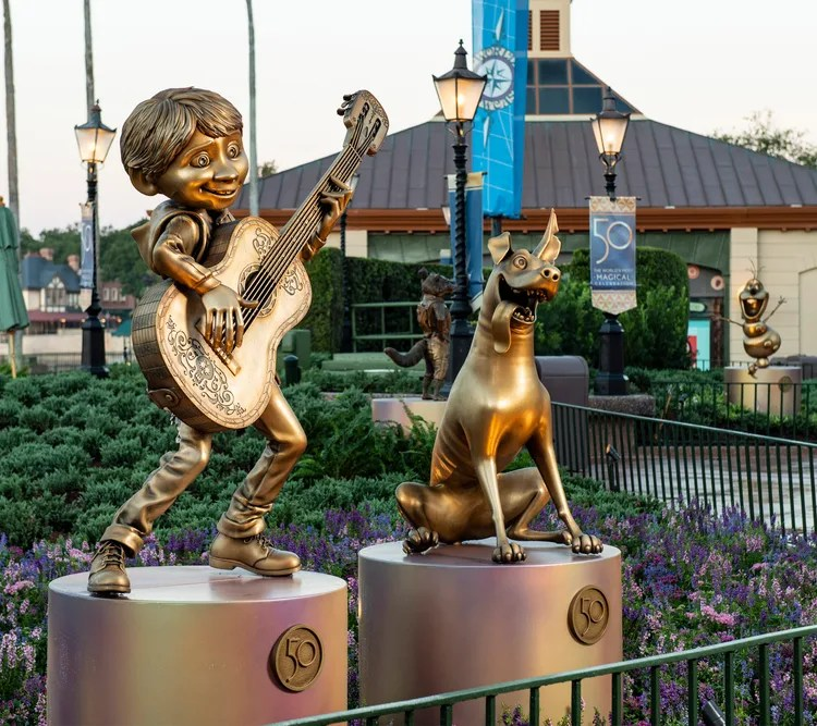 New Disney Fab 50 Statues debut in Epcot 11