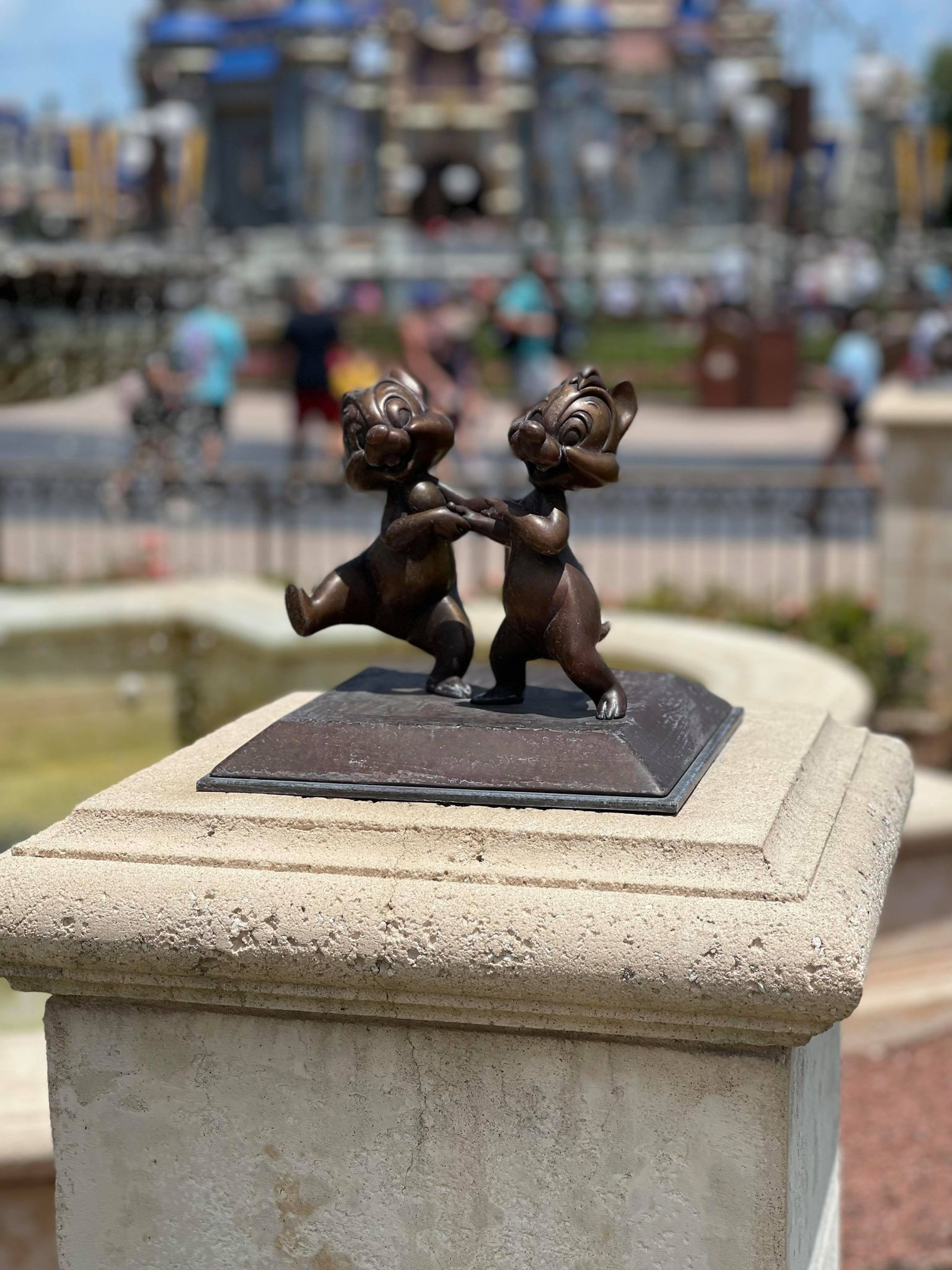 Bronze Character Statues Removed from the Hub in the Magic Kingdom 1