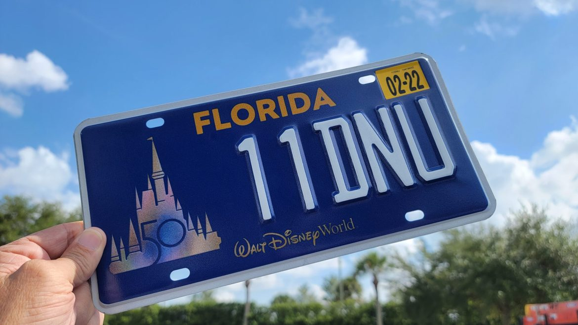 First look at Walt Disney World 50th Anniversary license plate