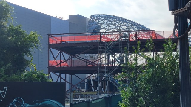 New building being erected at Tron Lightcycle Run 1