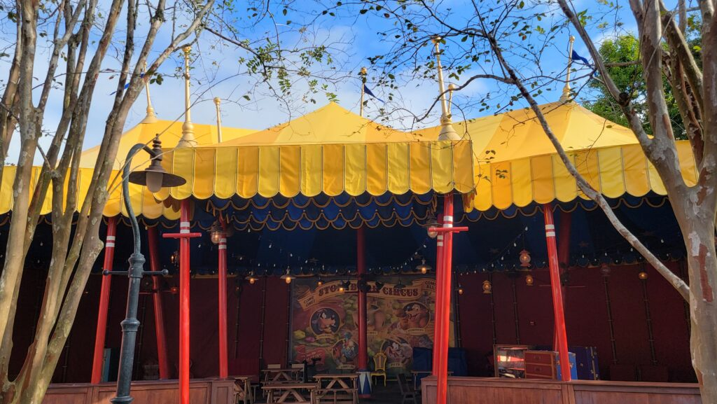 Storybook Circus tent refurbishment is now complete for 50th Anniversary 2
