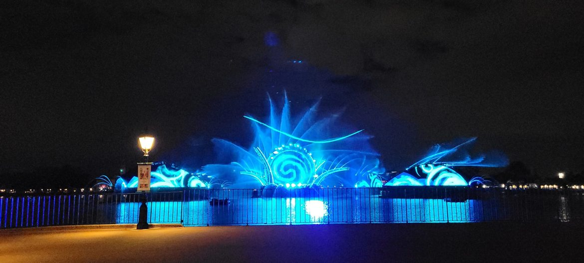The first performance of Epcot's Harmonious Nighttime Spectacular