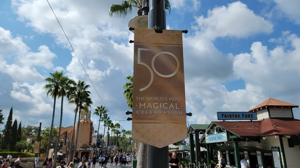 Disney World 50th Anniversary Banners Now Up at Hollywood Studios 4