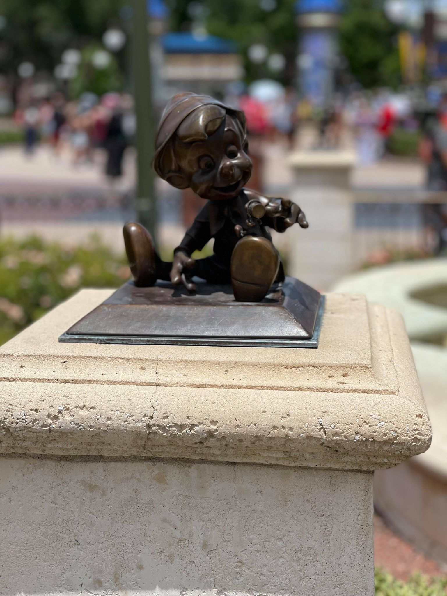 Bronze Character Statues Removed from the Hub in the Magic Kingdom 5