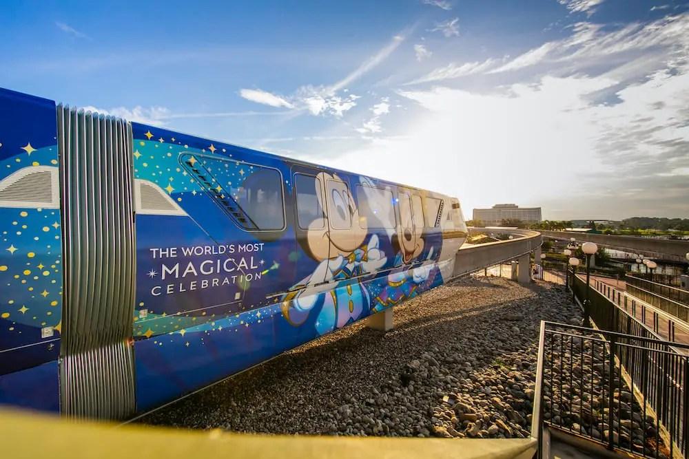 First Look: Disney World 50th Anniversary Monorail 5