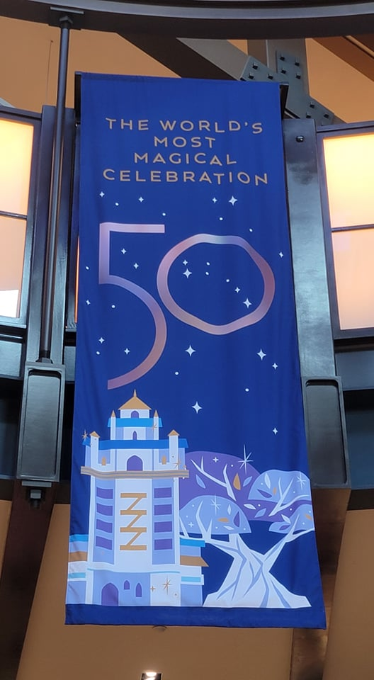 50th Anniversary Banners added to World of Disney Store in Disney Springs 6