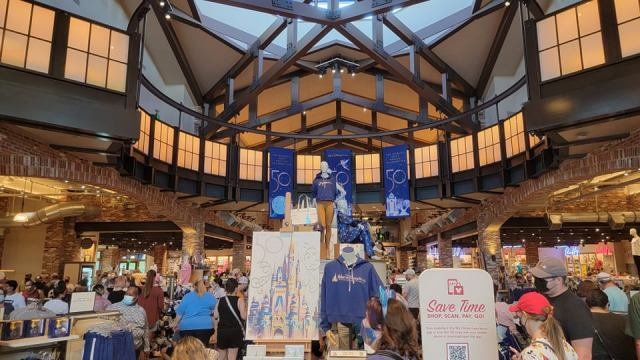 50th Anniversary Banners added to World of Disney Store in Disney Springs 1