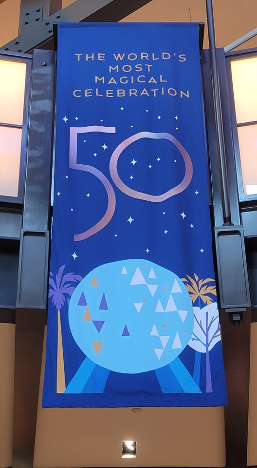 50th Anniversary Banners added to World of Disney Store in Disney Springs 4