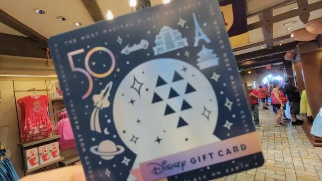 Walt Disney World 50th Anniversary Gift Cards 2