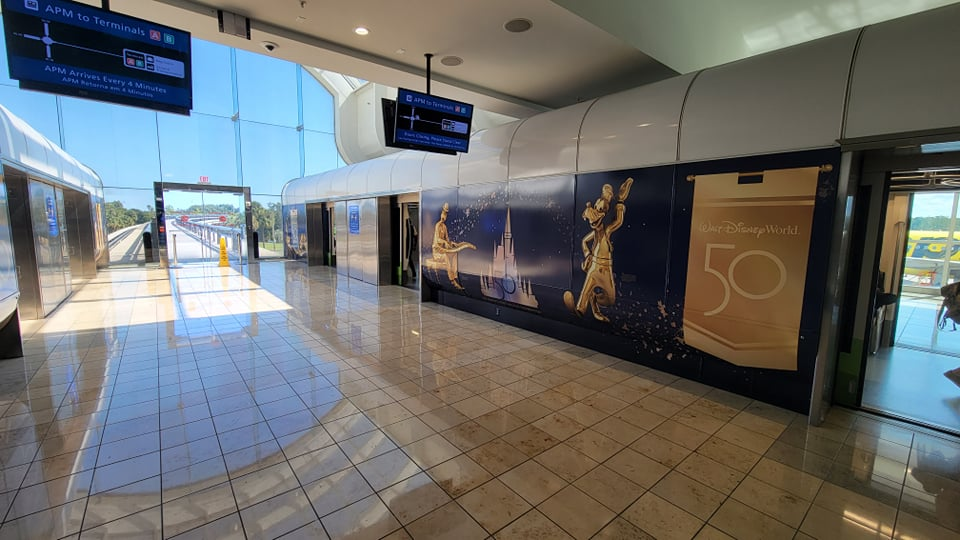 Disney World 50th Anniversary decorations are now at the Orlando Airport 9