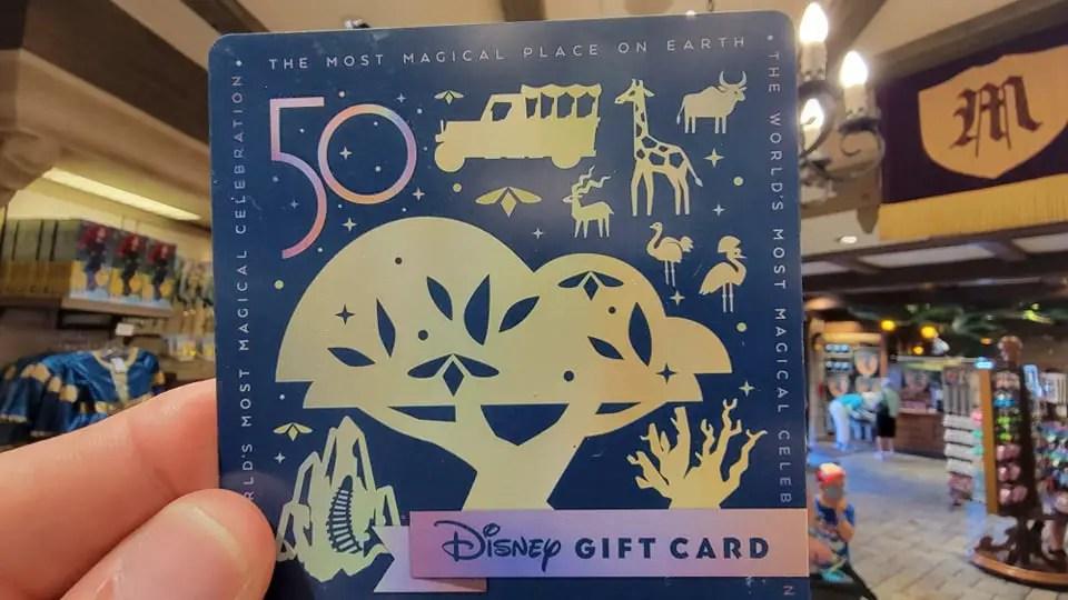 Walt Disney World 50th Anniversary Gift Cards 4