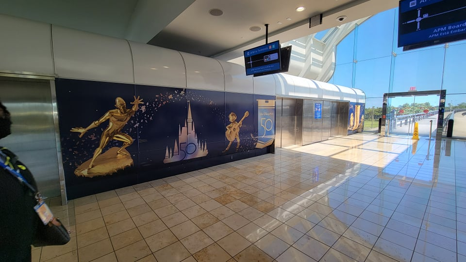 Disney World 50th Anniversary decorations are now at the Orlando Airport 10