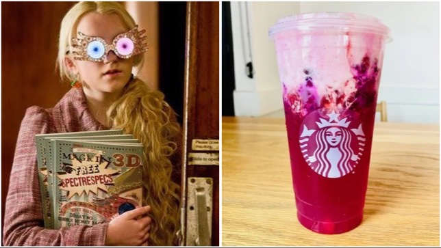 Magical Luna Lovegood Refresher To Order At Starbucks!